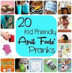 20 Kid-Friendly April Fools Day Pranks | Spoonful Want some great prank items? Click here http://www.anrdoezrs.net/click-5388345-10486006