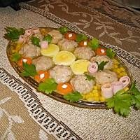 Klopsiki w galarecie Polish Food, Polish Recipes, Eggs, Meat, Dinner, Vegetables, Breakfast, Gourmet, Dining