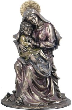 Mary and Jesus, Mary Mother of God Statue Statuary Sculpture Figurine Catholic Gifts-Home Décor-Decorations for Sale at AllSculptures.com