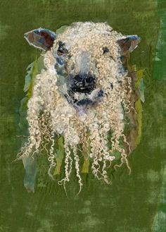 Fiber image of a Wensleydale Sheep - Media Tweets by Barbara Shaw (@art_in_textiles)   Twitter