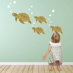 sea turtle wall sticker decals by snuggledust studios | notonthehighstreet.com