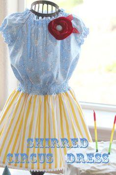 Shirred Circus Dress Tutorial