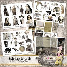 Deviant Scrap : itKuPiLLi Imagenarium Spiritus Mortis ATC Printables
