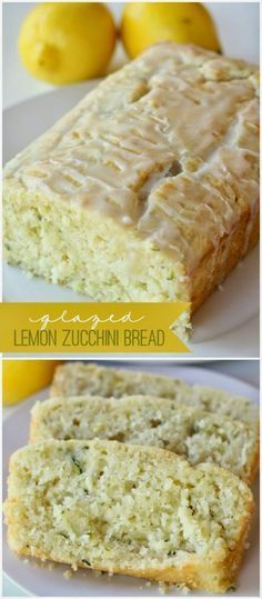 food and drink: Glazed Lemon Zucchini Bread