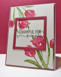 CTS114 card by Nancy Littrell (Penny Black Promise Me; Simon Says Stamps Lots of Thanks sentiment)