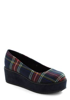 Plaid-form Shoe, #ModCloth $54. So perfectly 90's..Can't wait to rock these with my high-waisted pants or some tights!