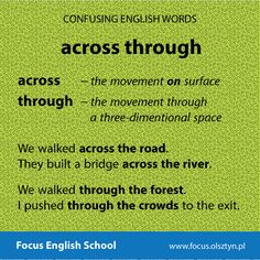 The confusing English words: across, through