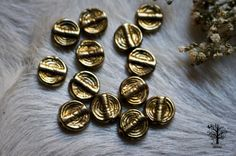 Brass Spiral Beads Indian tribal ethnic beautiful art by RootzRoom