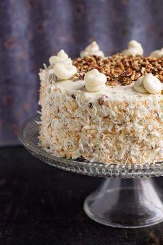 Italian Cream Cake Recipe - Susan Recipes Cheesecake Recipes, Cupcake Recipes, Cupcake Cakes, Dessert Recipes, Cupcakes, Italian Cream Cheese Cake, Cake With Cream Cheese, Italian Desserts, Fun Desserts