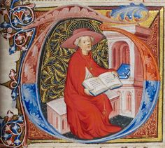 St. Jerome pauses to consider what he has just read. Royal MS 1 E IX f. 233r