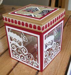 Detailed Santa thinlits window box | Chez Veronique                                                                                                                                                                                 Plus