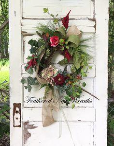 Summer Door Wreath Small Door Wreath Wispy Wreath Nature