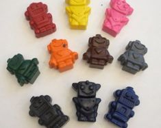 10 Robots Crayons Space Alien Adventure by Boy Party Favors, Wedding Party Favors, Robot Clipart, Outer Space Party, Space Aliens, Teacher Supplies, Crayons, 50th Birthday, Robots