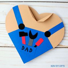 Father's Day handy dad heart card
