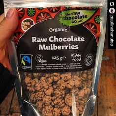#Repost @paulinehanuise  The best chocolate is in London  each time I have to put my hands on those raw chocolate mulberries! So delicious  #chocolateweek #rawchocolate