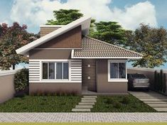 Simple House Plans, Simple House Design, Minimalist House Design, Home Building Design, Building A House, House Construction Plan, One Storey House, Affordable House Plans, Modern Bungalow House
