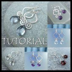 Genie Drops - Wire Jewelry Tutorial by KSJewelleryDesigns, via Flickr by Mary hg #wirejewelry