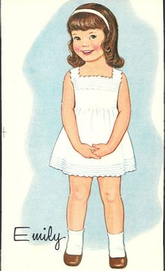 Emily*** Paper dolls for Pinterest friends, 1500 free paper dolls at Arielle Gabriel's International Paper Doll Society, writer The Goddess of Mercy & The Dept of Miracles, publisher QuanYin5
