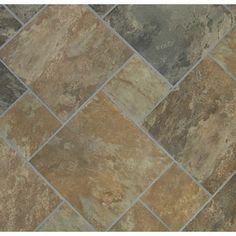 I like the different sizes.  Classic 12 x 12 Sedona Slate Cedar Glazed Porcelain Floor Tile  $2.18