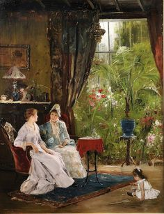 Conversation by Mihály Munkácsy on Curiator, the world's biggest collaborative art collection. Classic Paintings, Great Paintings, Pictures At An Exhibition, Collaborative Art, Classical Art, Light Painting, Conservatory, Famous Artists, Art History