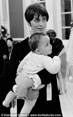 Earl of St German's first wife,  Lady Jacquetta Eliot with Jago in 1966...
