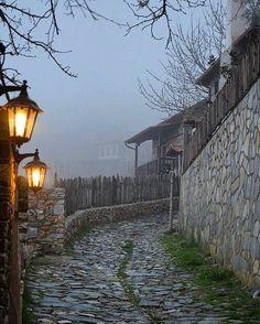 Cobblestone paths of Paleos Panteleimonas, Pieria #macedonia #greece.