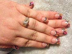 Sparkle acrylic nails