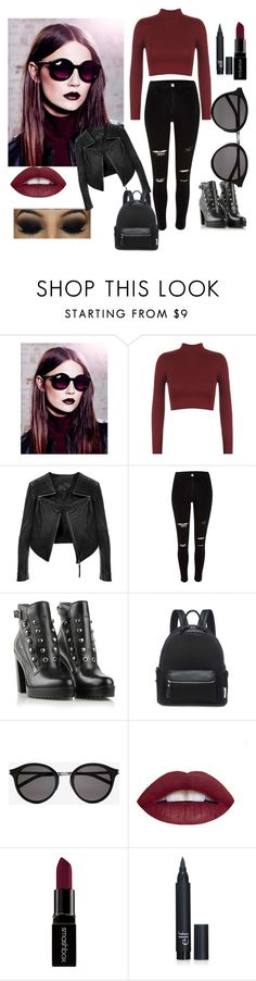 """WINTER REBEL"" by mustachesunicornspigsfashion on Polyvore featuring Lipsy, WearAll, Linea Pelle, Diesel, Yves Saint Laurent and Smashbox"