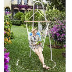 Cushioned Hammock Swing And Stand Kit