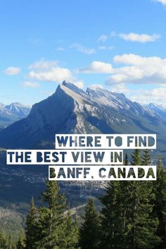 Where to find the best view in Banff. Best of all no crowds!