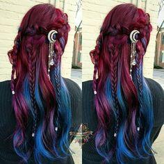 10 Amazing mermaid hair colour ideas – My hair and beauty Hair Inspo, Hair Inspiration, Cool Hair Color, Amazing Hair Color, Ombre Hair Colour, Hair Color For Women, Grunge Hair, Dream Hair, Crazy Hair