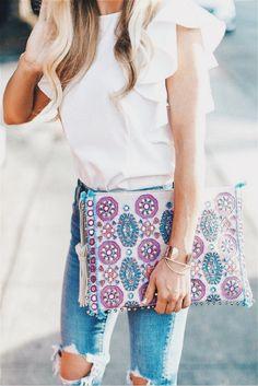 Pretty patterned clutch