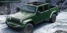 Renderings for the 2018 Jeep Wrangler and 2019 Jeep Pickup based on expert speculation, insider information and source photos! Jeep Wranglers, Jeep Wrangler Off Road, 2018 Jeep Wrangler Unlimited, Wrangler Rubicon, Jeep 4x4, Jeep Wrangler Pickup Truck, Pickup Trucks, Jeep Truck 2018, Jeep Willys