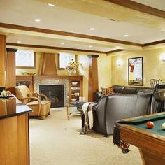 Expert advice for a warm, dry and inviting space. Family Home Improvement provides full basement remodeling and lighting ideas.
