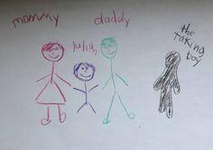 Creepy Kids Drawings | Funny Kid Art Gallery