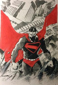 Kingdom Come Superman - Yildiray Cinar Comic Book Artists, Comic Book Characters, Comic Artist, Comic Character, Comic Books Art, Superman Artwork, Batman Vs Superman, Dc Comics Art, Marvel
