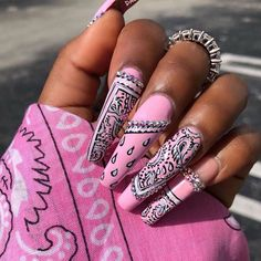 In look for some nail designs and some ideas for your nails? Here's our listing of must-try coffin acrylic nails for fashionable women. Bling Acrylic Nails, Acrylic Nails Coffin Short, Best Acrylic Nails, Coffin Nails, Square Acrylic Nails, Edgy Nails, Stylish Nails, Swag Nails, Grunge Nails