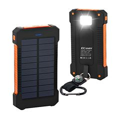 Ecandy 10000mAh Portable Solar Charger Rain-Resistant Shockproof for Emergency Outdoor Camping Travel, Dual USB Output Power Bank for iPhone,iPod,iPad,Samsung,HTC,Gopro Camera and Tablet ,Orange - http://www.computerlaptoprepairsyork.co.uk/mobile-phones/ecandy-10000mah-portable-solar-charger-rain-resistant-shockproof-for-emergency-outdoor-camping-travel-dual-usb-output-power-bank-for-iphoneipodipadsamsunghtcgopro-camera-and-tablet-orange