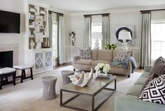 This elegant home designed by Tobi Fairley is filled with a serene sea-inspired color palette