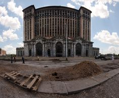 Michigan Central Station, Detroit, Michigan  This was the tallest railroad station in the world when it was built in 1913. Cessation of its Amtrak service in 1988 shuttered it, and active efforts to maintain the structure and repurpose the building continue.  Photo: Яick Harris