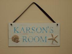 Beachy room sign