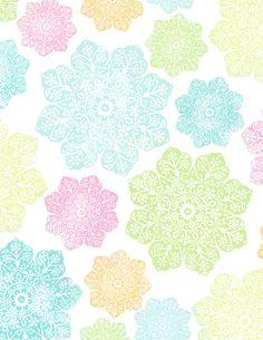 """batik flower paper LIGHT standard size - 8.5"""" x 11"""" 350dpi mel stampz by melstampz, via Flickr"""