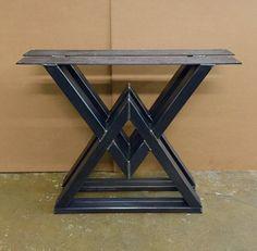 The Diamond Dining Table Legs Industrial by MetalAndWoodDesign