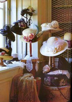 . Vintage Boutique, Ladies Boutique, Mr Selfridge, Vintage Outfits, Vintage Fashion, 1900s Fashion, Hat Display, Hat Stores, Hat Shop