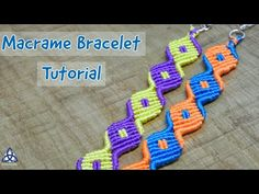 In this tutorial, I'll show you How to Make a Bracelet with Square Pattern. I love Macrame bracelet making and tod. Macrame Bracelet Patterns, Macrame Bracelet Tutorial, Friendship Bracelets Tutorial, Macrame Jewelry, Macrame Bracelets, Friendship Bracelet Patterns, Magic Knot, Macrame Design, Unique Bracelets