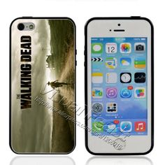 Hot Sale 1pc 2014 Popular Movies the walking dead Case for iPhone 5 5s Soft TPU Edges + Hard PC Back Cover For iPhone 4 4s A0190