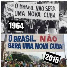 Editorial do Jornal FOLHA DE SÃO PAULO exaltando a Marcha que deu origem ao Golpe Militar em 1964