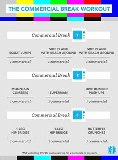 I am so going to do this! The Commercial Break Workout Keeps You Fit While Watching TV