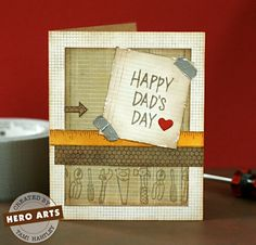 Hero Arts Cardmaking Idea: Fix Anything Dad's Day