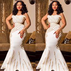 Glamorous Aso Ebi Styles Of 2018 Long African Dresses, African Wedding Dress, African Fashion Dresses, Xhosa Attire, African Attire, African Traditional Dresses, Traditional Wedding Dresses, African Inspired Fashion, African Print Fashion